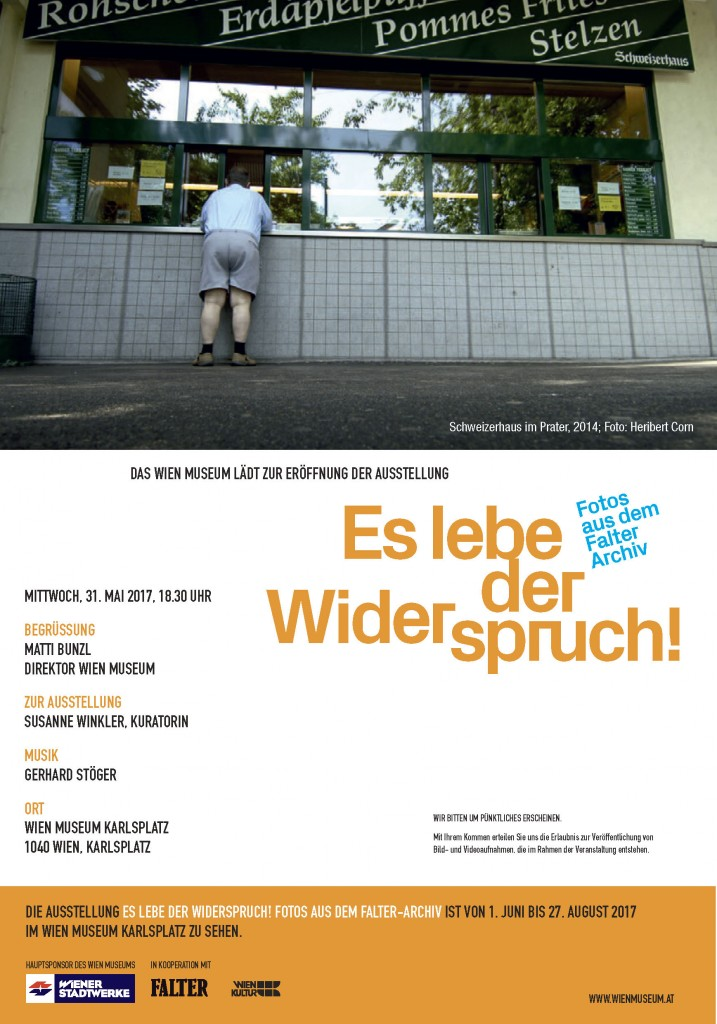 Einladung WIEN MUSEUM, 40 Jahre Falter Fotografie